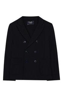 Двубортный пиджак из хлопка Il Gufo
