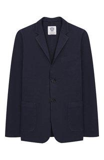 Пиджак из хлопка и льна Dal Lago