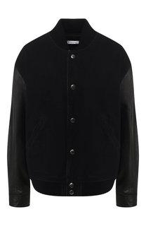 Джинсовая куртка с кожаными рукавами Givenchy
