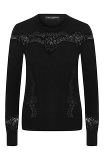 Пуловер из шерсти и хлопка Dolce & Gabbana