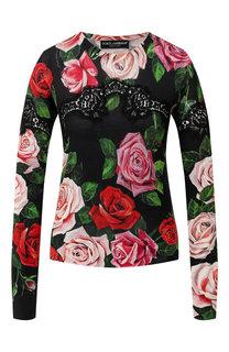 Пуловер из смеси шелка и хлопка Dolce & Gabbana