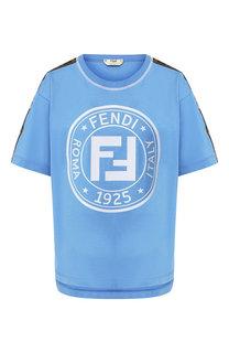 Хлопковая футболка Fendi