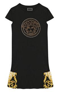 Хлопковое платье Young Versace