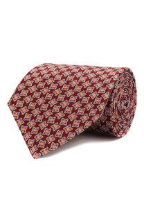 Комплект из шелковых галстука и платка Lanvin