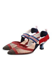 Текстильные туфли Fendi