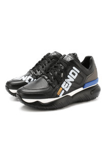 Кожаные кроссовки Fendi