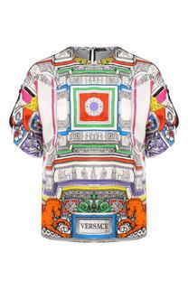 Шелковый топ Versace