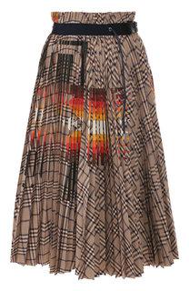 Хлопковая юбка Sacai