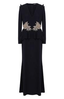 Платье с декоративной отделкой Alexander McQueen