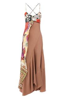 Платье из смеси вискозы и шелка Chloé