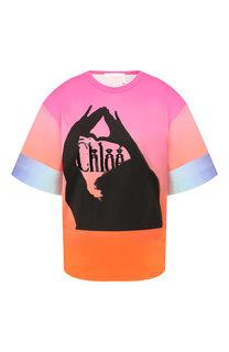 Хлопковая футболка Chloé