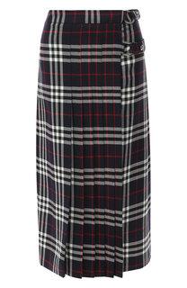 Шерстяная юбка в клетку Burberry