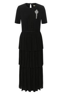 Платье-миди с оборками Burberry