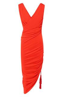 Платье с драпировкой Lanvin