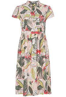 Платье с цветочным принтом LE Monique