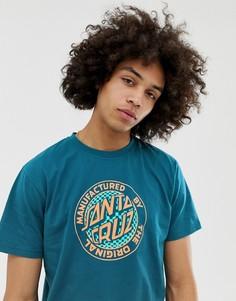 Сине-зеленая футболка Santa Cruz Fisheye MFG - Синий