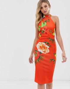 Облегающее платье с высоким воротом True Violet - Мульти