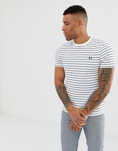 Белая футболка в полоску Fred Perry - Белый