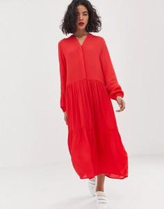 Платье-рубашка миди Moss Copenhagen - Красный