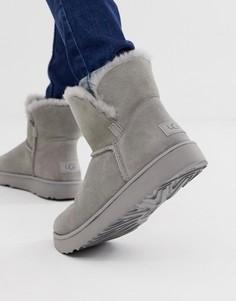 Серые классические укороченные ботинки с манжетами Ugg - Серый