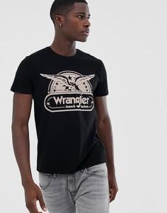 Футболка с принтом Wrangler - Черный