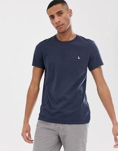 Темно-синяя футболка с логотипом Jack Wills Sandleford - Темно-синий