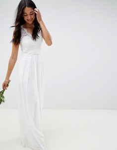 Свадебное платье с кружевом Little Mistress - Белый