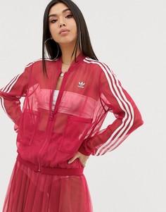 Розовая спортивная куртка из тюля adidas Originals - Розовый