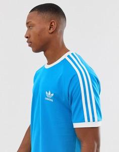 Синяя футболка adidas Originals california - Фиолетовый