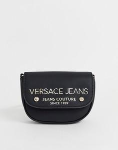 Сумка через плечо с логотипом Versace Jeans - Черный