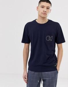 Футболка с принтом на кармане Calvin Klein Jeans - Темно-синий