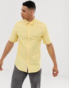 Оксфордская рубашка с короткими рукавами Only & Sons - Желтый