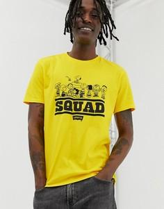 Желтая футболка с принтом Levis Peanuts Squad - Желтый Levis®