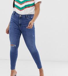 Выбеленные джинсы River Island Plus - Синий