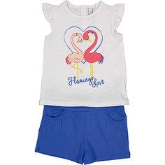 Комплект: футболка с коротким рукавом и шорты Birba для девочки
