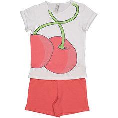 Комплект: футболка с коротким рукавом и шорты Trybeyond для девочки
