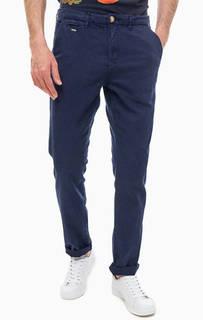 Темно-синие брюки с добавлением льна Guess