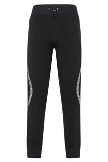 Черные брюки с контрастной отделкой Philipp Plein