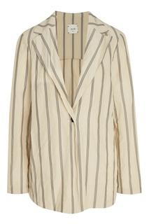 Полосатый пиджак свободного кроя Alysi