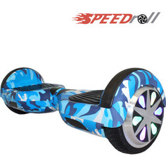 Гироскутер SpeedRoll Premium Smart LED NEW Синий камуфляж