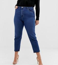 Темные узкие джинсы в винтажном стиле с завышенной талией ASOS DESIGN Curve - Синий