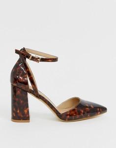 Черепаховые туфли на каблуке RAID Katy - Коричневый