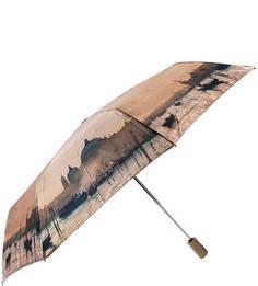 Складной автоматический зонт с атласным куполом Eleganzza