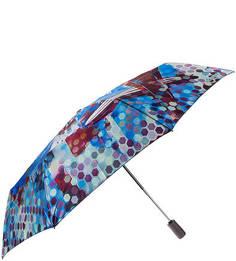 Складной автоматический зонт с разноцветным атласным куполом Eleganzza