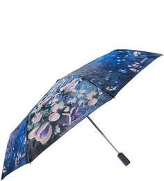 Складной автоматический зонт с куполом с цветочным принтом Eleganzza
