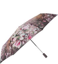 Складной автоматический зонт с цветочным принтом Eleganzza