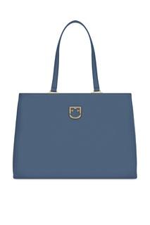 Синяя кожаная сумка Belvedere Furla