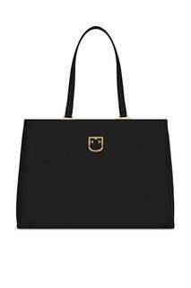 Черная кожаная сумка Belvedere Furla