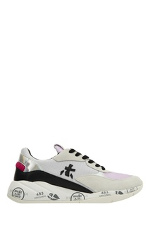 Комбинированные белые кроссовки Premiata