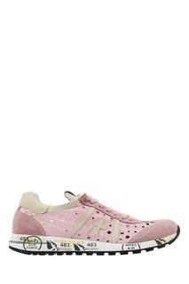 Розовые кроссовки с перфорацией Premiata